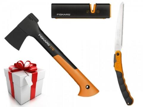 Darčekový set - Pílka Silky + sekera Fiskars X7 + ostrič nožov a sekier