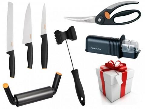 Darčekový set - Nožnice, brúska, valček, tĺčik, 3x nôž