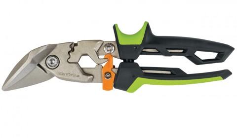 Prevodové nožnice na plech FISKARS PowerGear, offsetové pravé