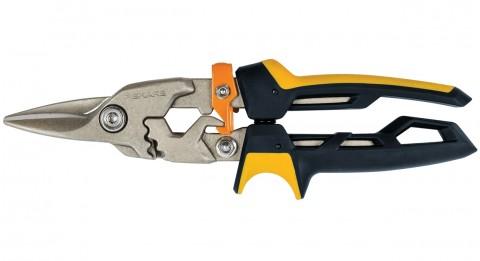 Prevodové nožnice na plech FISKARS PowerGear, priame