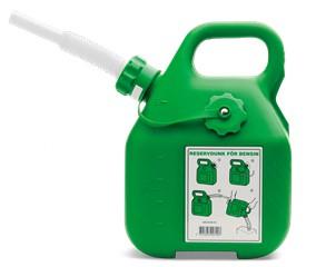 Kanister na benzín, zelený