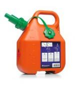 Kanister na benzín, 6 l, oranžový